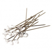 Corsage Creations - 6mm Acrylic Diamond Pins - Clear