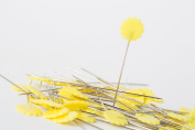 Big Sam 50 Quilting Pins Flower Head Pins in 6 Colours – 0,60x42 mm yellow