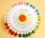 Liroyal Craft Pin Wheel - Blossom Shaped Pins. Sewing Pins.