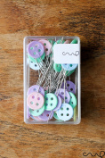 Redchocol8(R) 40 x 45mm Button Sewing Pins Pastel Flat Head Dressmaking Quilting Craft Serging