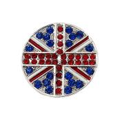 Bling Stars Union Jack Flag Brooch Crystal Rhinestone British Flag Brooch Pin Badge
