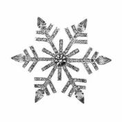 Bling Stars Christmas Xmas Element Crystal Snowflake Brooch Pin Jewellery Gift