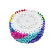 Hysagtek 480 PCS Assorted Colour Faux Pearl Round Head Pins Dressmaking Sewing Pins Needle