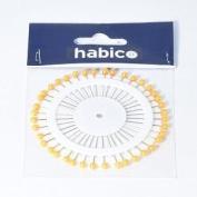 Habico Gold Pearl Headed Pin Rosette