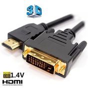 Amazing 1.8m HDMI to DVI DVI-D Video Cable Adapter for 1080P HDTV PC PS3 XBOX DVD