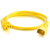 C2G/Cables to Go 17532 C13-C14 Power Extension 14awg 0.6m Yellow