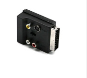 SCART To 3 RCA Composite Phono S-Video Adaptor with In Out Switch Converter