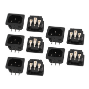 sourcingmap® AC250V 10A BX-120-A05 IEC Input Socket Switch Copper Rhodium Power