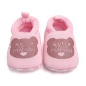Smile YKK Newborn Baby Prewalker Cotton Anti-slip Winter Shoes