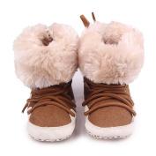 Smile YKK Toddler Soft Sole Bow Anti-Slip Winter Prewalker Snow Boots