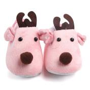 Smile YKK Infant Winter House Slipper Soft Sole Prewalker Crib Shoes