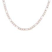 """Rose Golden 4mm Wide Figaro Link Chain Necklace For Mens Jewellery,21.65"""""""