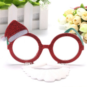 Blaward 2018 New Christmas Santa Claus Glasses Christmas Decoration Decorations Festive and New Year's Party Supplies Ornaments Accessories Toys