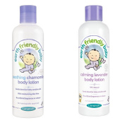 Earth Friendly Baby Calming Lavender Body Lotion And Chamomile Body Lotion Bottle of each