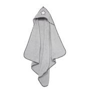 ALVI Hooded Bath Towel Terry Star and Stars Grey 898 9