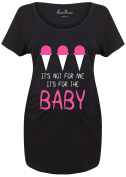 For the Baby Ice-cream Expecting Mother Funny Slogan Pregnancy Maternity TShirt - SuperPraise Matenity T shirt -S to 3XL