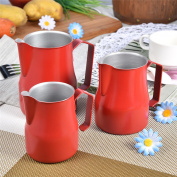 Stainless Steel Milk Frothing Pitcher Jug Espresso For Coffee Cappuccino Latte Drinks Barista 500ml Red