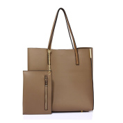 LeahWard Women's Shoulder Handbags Designer Quality Faux Leather Tote Bags With Removable Bag 549