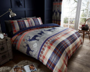 Christmas Heritage Stage Bedding Winter Christmas Duvet Cover set single double King