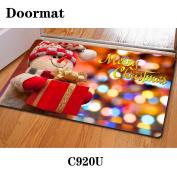 Christmas door dust mat rubber slip mat 40 * 60cm , c920u , 40*60cm