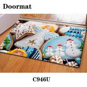 Christmas door dust mat rubber slip mat 40 * 60cm , c946u , 40*60cm