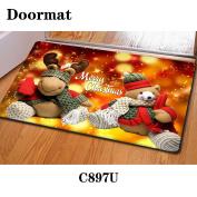 Christmas door dust mat rubber slip mat 40 * 60cm , c897u , 40*60cm