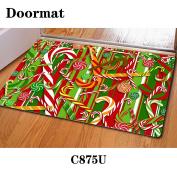 Christmas mat door rubber non-slip 40 * 60cm , c875u , 40*60cm