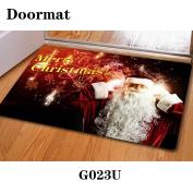 Christmas door dust mat rubber slip mat 40 * 60cm , g023u , 40*60cm