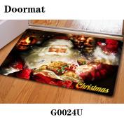 Christmas door dust mat rubber slip mat 40 * 60cm , g0024u , 40*60cm