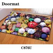 Christmas mat door rubber non-slip 40 * 60cm , c876u , 40*60cm