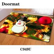 Christmas door dust mat rubber slip mat 40 * 60cm , c949u , 40*60cm