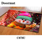Christmas door dust mat rubber slip mat 40 * 60cm , c878u , 40*60cm