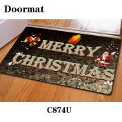 Christmas mat door rubber non-slip 40 * 60cm , c874u , 40*60cm