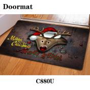 Christmas door dust mat rubber slip mat 40 * 60cm , c880u , 40*60cm