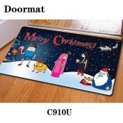 Christmas door dust mat rubber slip mat 40 * 60cm , c910u , 40*60cm