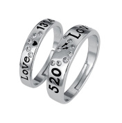Cdet 1pair Lover Ring Sparkly Diamond Ring Engagement Wedding Rings Jewellery