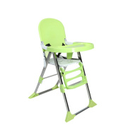 WANG Children Dining Chair Portable Collapsible Multi-functional Solid Wood Baby Eating Table 48 * 65 * 102cm,Green