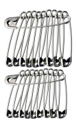 Large Safety Pins Size 4 / 52mm 50Pcs Silver + 10 Free - Offer GCS London