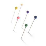 Dressmaking Pins, Knitters Marking Pins Needles Tacks Stained-25 pcs Colour map Pins