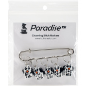 Paradise Exotic Shawl Pin Puppy Stitch Markers-Sizes 0 To 10