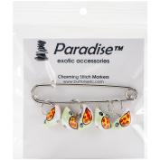 Paradise Exotic Shawl Pin Birdie Stitch Markers-Sizes 0 To 10