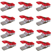 TQWY Lot 50 Plastic Clear and Red Patchwork Sewing Quilter Holding Wonder Clips Clamp Sewing Craft Quilt Binding