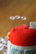 Redchocol8(R) 40 pcs Clear Diamond Head Sewing Pins 54mm Florist Pins Buttonhole Wedding