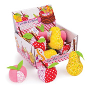 Fun Fruit Pincushions - Display , SUPPLIED BY DOWNTON FABRICS AND CRAFTS.