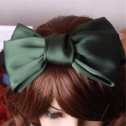 Girl's Cute Fashion Korea Style Big Bowknot Hair Band Hairpin Hair Accessory Green