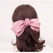 Girl's Cute Fashion Korea Style Big Bowknot Hair Band Hairpin Hair Accessory Pink