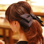 Girl's Cute Fashion Korea Style Big Bowknot Hair Band Hairpin Hair Accessory Black