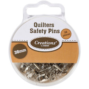 Creations by Korbond Quilters Safety Pins, Silver
