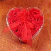 Creative gift 9 flower heart flower soap wedding favour rose gift Christmas gift for Valentine's Day,red