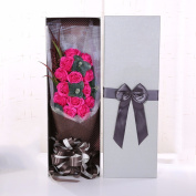 Valentine's Day gifts, 13 perfumed soap flowers, rose bouquets, gift boxes, Christmas gifts,Rose red